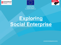 What is a Social Enterprise?