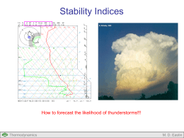 Lecture #12: Stability Indices