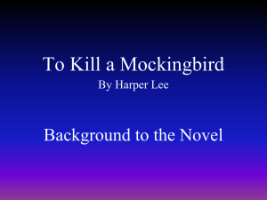 To Kill a Mockingbird Notes Power Point
