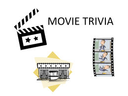 Movie Trivia Power Point