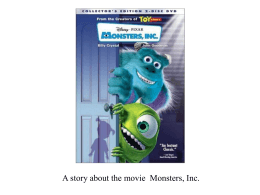 Monsters, Inc - ppt