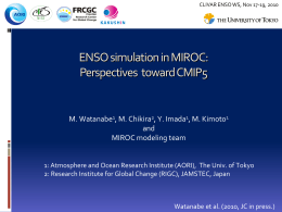 ENSO simulation in MIROC
