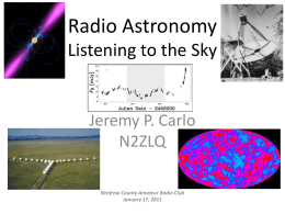 Radio Astronomy: Listening to the Sky