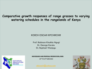 Comparative growth responses of range grasses to varying