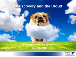 E-Discovery in the Cloud