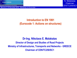 Eurocode 1: Actions on Structures Part 1