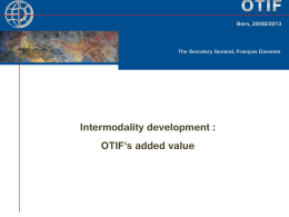 Intermodality as within OTIF