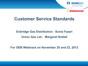 Natural Gas Customer Service Standards
