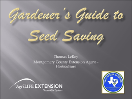 Gardener_s Guide to Seed Saving