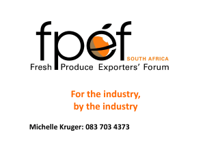 South African Export Markets