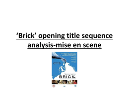 `Brick` opening title sequence analysis