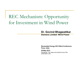 Significance of RECs for Investment in Wind Power