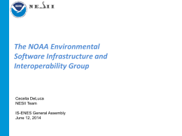 The NOAA Environmental Software Infrastructure and