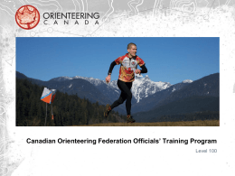 Instructor`s PowerPoint - Canadian Orienteering Federation