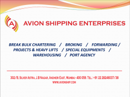 Presentation - Avion Shipping Enterprises