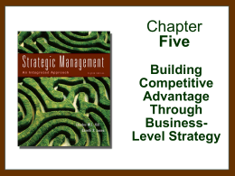 Hill & Jones, Strategic Mangement, 7th edition