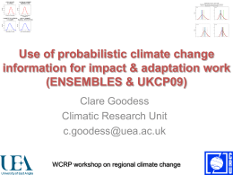 Use of probabilistic climate change information for impact