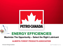 Petro-Canada Lubricants - Alberta Forest Products Association