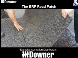 The BRP Road Patch