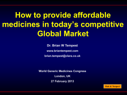 How to provide affordable medicines in today`s competitive Global