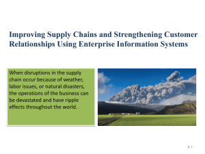 Improving Supply Chains and Strengthening Customer Relationships