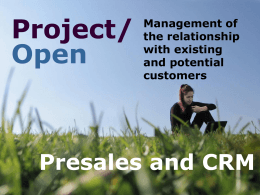 Presales and CRM