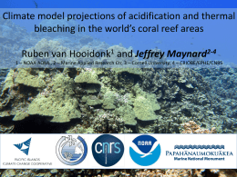 Downscaling climate model projections of coral bleaching