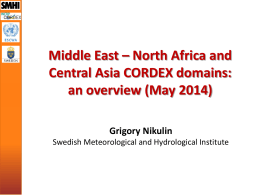 Middle East – North Africa and Central Asia CORDEX domains