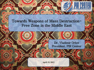 Ten Steps toward the WMD-Free Zone in the Middle East