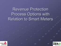 Revenue Protection Process Options with Relation to Smart