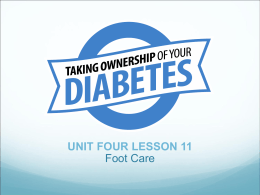 TAKING OWNERSHIP OF YOUR DIABETES