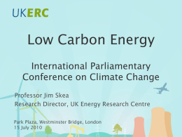 Introduction to the UK Energy Research Centre