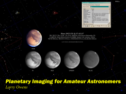 Planetary Imaging for Amateur Astronomers