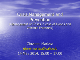Crisis Management and Prevention