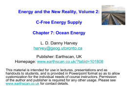 Powerpoint file for Chapter 7 (Oceanic energy)