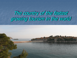 Fastest growing tourism in the world