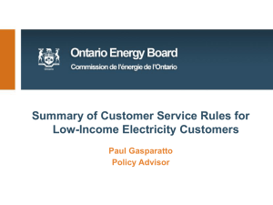 Electricity Customer Service Rules