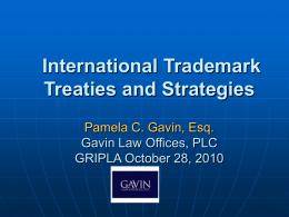 Paris Convention - Gavin Law Offices, PLC