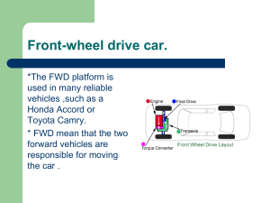 Front-wheel drive car