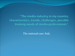 Media Industry - GSI ITALIA in Italy