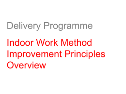 Task 14d - DP Indoor Work Method Improvement