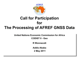 OBJECTIVES OF AFREF - United Nations Economic Commission for