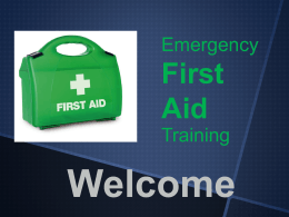 EFAW-2013 - First Aid Training Excellence