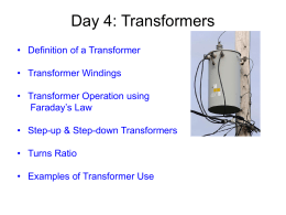 Unit 5 Day 4 – Transformers