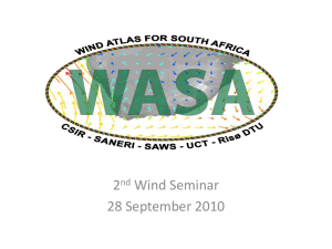 Wind Atlas for South Africa (WASA)