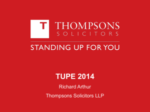 The New TUPE Regulations: a critical analysis contained