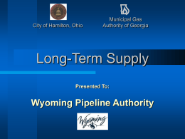 Hamilton, Ohio - Wyoming Pipeline Authority