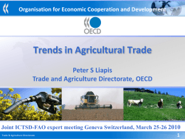 The OECD-FAO Agricultural Outlook Global Trends