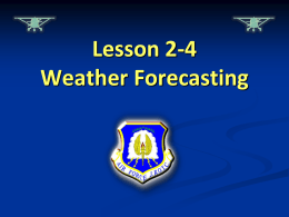 Lesson 2-4 Slides Weather Forecasting