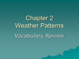 Chapter 2 Weather Patterns
